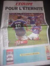L'équipe Lundi 13 Juillet 1998 France 98 Champions Victoire Coupe du Monde