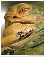 """JOHN COPPINGER """"Star Wars Jabba the Hut"""" Hand Signed In Person Autographed W/COA"""