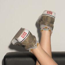 Calcetines de mujer deportivos grises de algodón