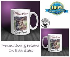 Maine Coon Personalised Ceramic Mug: Perfect Gift. (CA07)