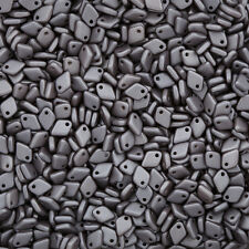 Czech Glass Dragon® Scale Beads Alabaster Metallic Steel - 9g (M32/1)