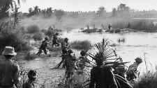 Vietnam War U.S. Army & South Vietnamese Firefight VC Mekong Delta 8.5x11 Photo