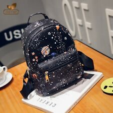 Ladies Girls Fashion PU Leather Women's  Shoulder School Travel Bag Backpack