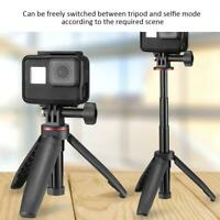 Table Extension Rod Tripod for GoPro Hero 8 7 6 Action Cameras Recording -Black