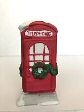 Dickensville Noma Rex&Lee Christmas Village Red Phone Booth 1990