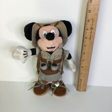 "New listing Authentic Original Disney World Mickey Mouse Plush Safari Animal Kingdom Toy 10"""