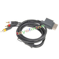HD TV Component Composite Audio Video AV Cable Cord for Microsoft Xbox 360 Game