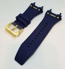 Invicta Bolt Magnum Blue Rubber Gold Bar Watch Bracelet