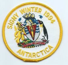 Antarctica Penguin Signy Winter 1994 patch 3-3/8 dia