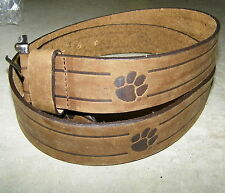 "Clemson Tigers  Brown LEather Belt NEW Size 42"" 42in"