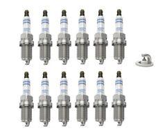 Spark Plugs x 12 Bosch Platinum Fits Mercedes C E G M S-Class CLK CLS SLK SL