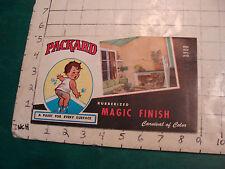 vintage brochure w paint samples, PACKARD woder Rubberized 100% latex circa 1950