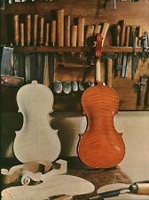 Document de Magazine  découpage Atelier de Luthier  1959  P 33