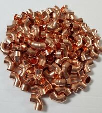 100 X 15mm endfeed Elbows Copper fitting job lot