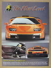 1999 Lamborghini Diablo GT photo vintage print Ad