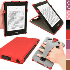 Rojo Funda Carcasa Case Cover eco-piel para Amazon Kindle Paperwhite 3G Wi-Fi 2G