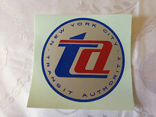 NEW YORK CITY TRANSIT AUTHORITY NYCTA SUBWAY NOS NYCTA WINDOW DECAL