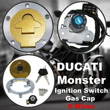 Ignition Switch Gas Cap Cover Lock Set For Ducati Monster 620 750 900 ST2 ST4