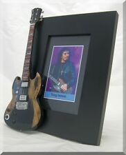 TONY IOMMI  Miniature Guitar Frame Black Sabbath