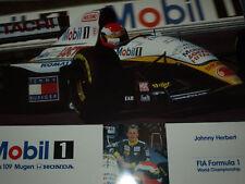 L'ultimo vero F1 GRAND PRIX TEAM LOTUS 109 Johnny Herbert POSTER RARO