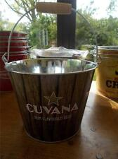 Cuvana Rum flavoured Beer Lager Galvanised Metal Ice Bucket Bottle Cooler BBQs