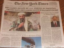The New York Times OSAMA BIN LADEN KILLED Dead May 2, 2011 Historical Edition