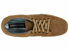 NEW SKECHERS HIRSH LOTTA BROWN CASUAL SHOES MENS 12 (COLOR DESSERT)