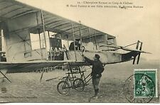 CARTE POSTALE AVIATION AEROPLANE FARMAN AU CAMP DE CHALONS PAR FARMAN / HERBSTER