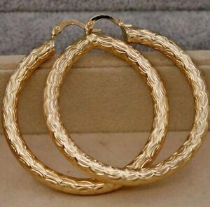 Aretes, Argollas 5cm Oro Amarillo (GoldFilled). Gold Earrings (GF)