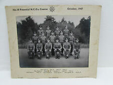 No.10 Potential N.C.O.s Course 1947 Photograph Signed By Servicemen