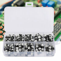 200X 10-50V SMD Electrolytic Capacitors Set 1uF 470uF E Cap Capacitor Assortment