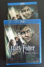 Harry Potter: Years 1-7, Part 1 (Blu-ray Disc, 2011, 9-Disc Set) Free Shipping