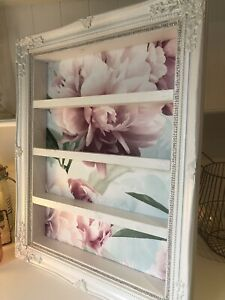 Nail Polish Display Frame Shabby Chic Wall Mounted Shelving Unit