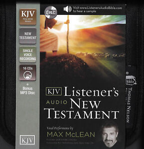 NEW King James Version Listeners Audio New Testament  KJV Bible 16 CD Max McLean