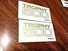 Trophy 500 Side Panel blocked transfer decal sticker 1969-72 Triumph T100C, pair