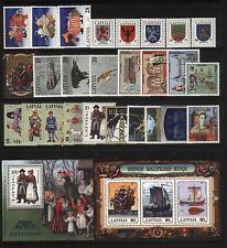 Latvia 1997 MNH Year set  26 Stamps + 2 Souvenir sheets