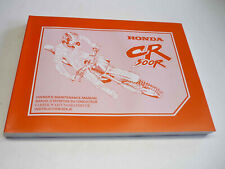 Honda Werkstatthandbuch CR500R 99 Fahrer-Wartungshandbuch