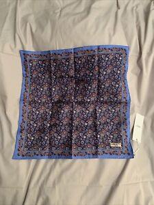 Liberty London Mens 100% Silk Addlington Pocket Square RRP £60