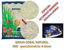 GRAVA CORAL NATURAL 4KG especial ACUARIO MARINO granulometria 4/6 peces sustrato