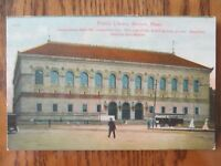 Vintage Postcard Public Library Building Boston Mass