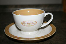 "Advertising Tim Hortons Teacup and Saucer Coffee Shop Tea Cup ""Always Fresh"""