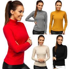 Pullover Sweatshirt Sweater Strickpullover Rollkragen Damen Mix BOLF Cardigan