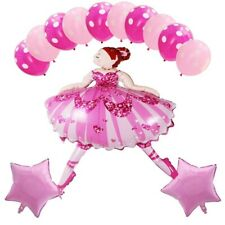 Ballerina 13Pcs Helium Balloons Large Airwalker 41Inch Party Pink Girl Birthday