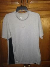 Nike Dri-Fit Poly Training short Sleeve T-Shirt gray black euc