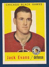 JACK EVANS 59-60 TOPPS 1959-60 NO 30 EX+ 4