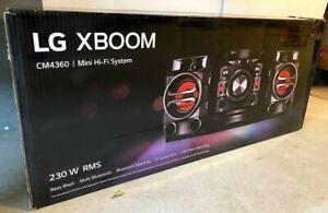 LG XBOOM 230W Bluetooth Bookshelf Speakers CD Radio Loud Bass Stereo CM4360