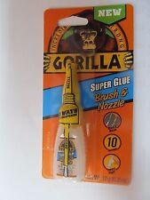 Gorilla Glue #7500102 Super Glue Brush and Nozzle 10 Gram Bottle New
