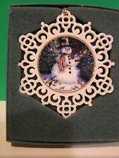 Lenox Snowman Flat Pierced Snowflake Ornament New in Box
