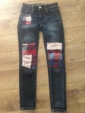 AMERICAN EAGLE URBAN OUTFITTERS STRETCHY SKINNY JEGGINGS ARTISTS SERIES 0 SHORT
