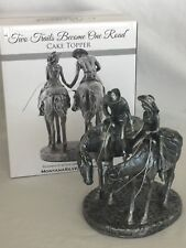 Two Trail Become One Road Western, Cowboy, Horse Montana Silversmiths Caketopper